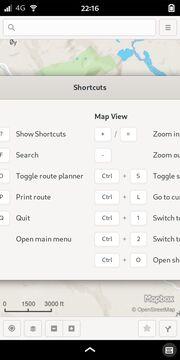 GNOME Maps: Shortcuts
