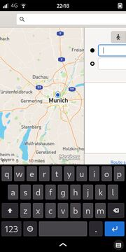GNOME Maps: Routing view