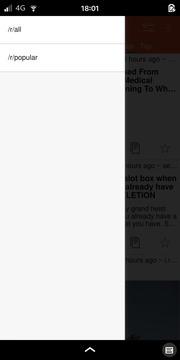 Quickddit: Subreddit Menu