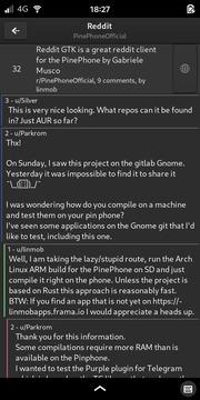 reddit-client-gtk: Thread View